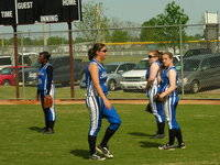 The Bolton Bears Softball Team warm up before the next game.